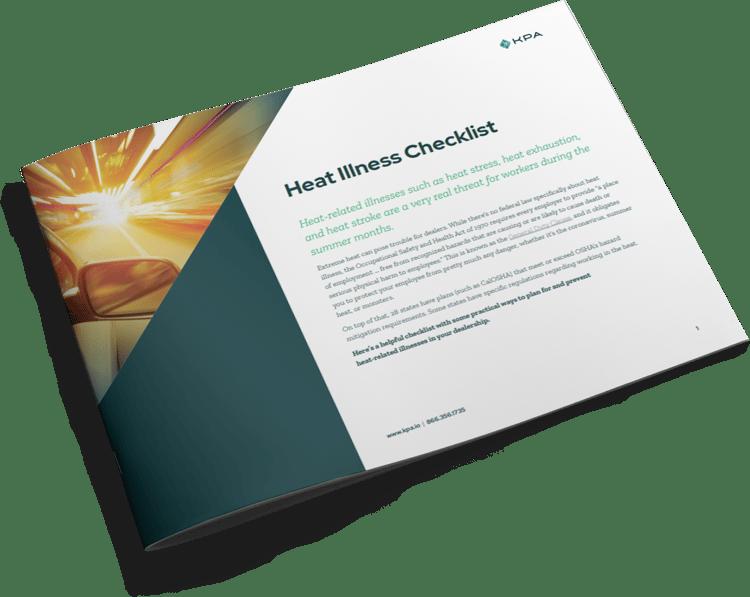 Heat Illness Checklist Auto - Thumbnail