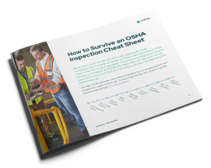 KPA How to survive OSHA Inspection Cheat Sheet cover