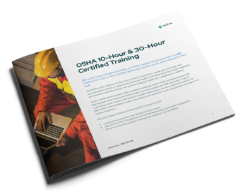 OSHA 10-Hour & 30-Hour Training Datasheet Cover