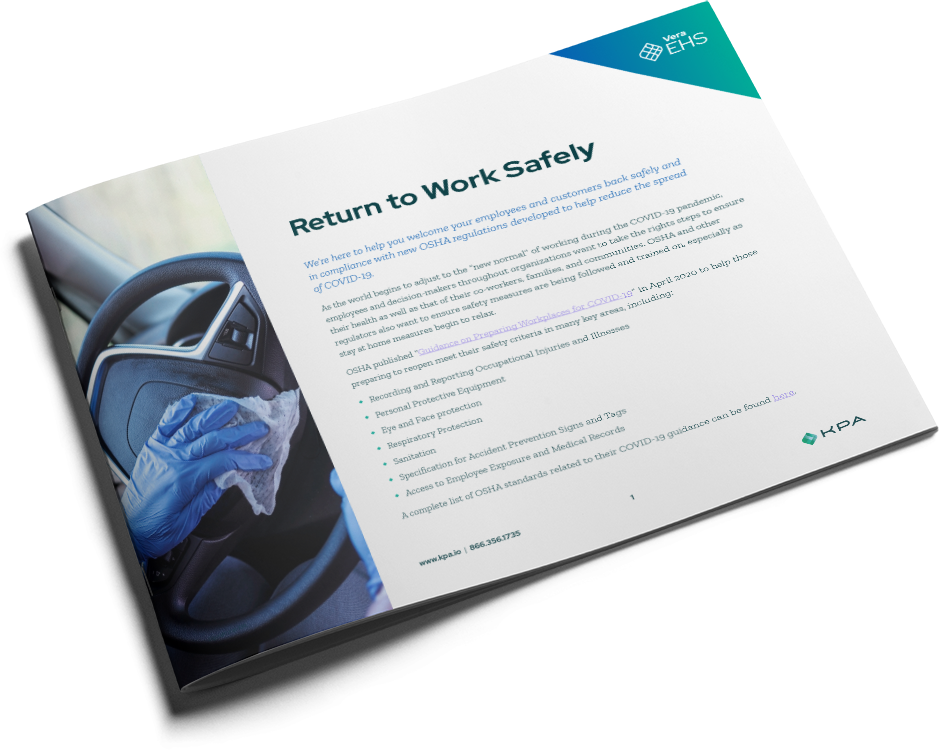 KPA - Coronavirus - Return to Work Safely Datasheet - Automotive Cover