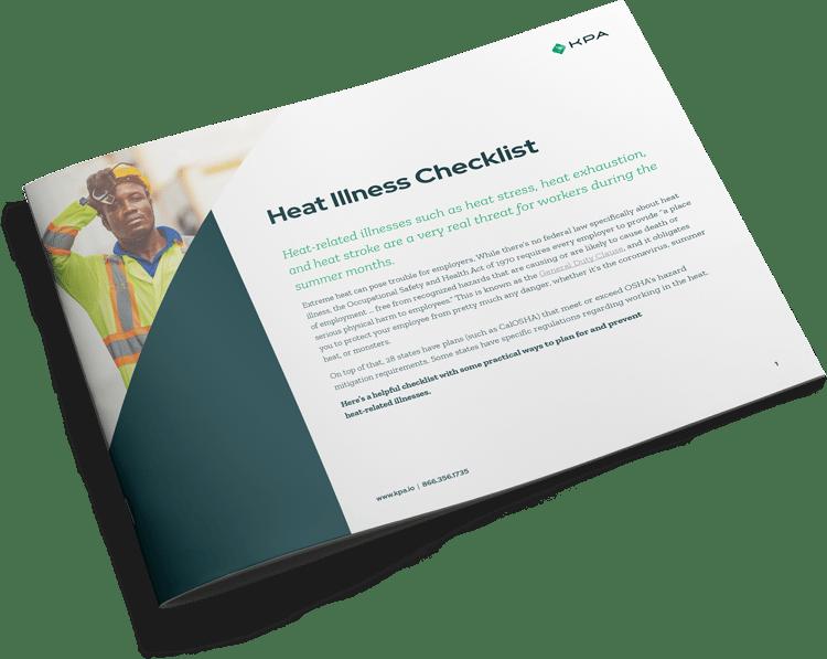 KPA Heat Illness Checklist thumbnail