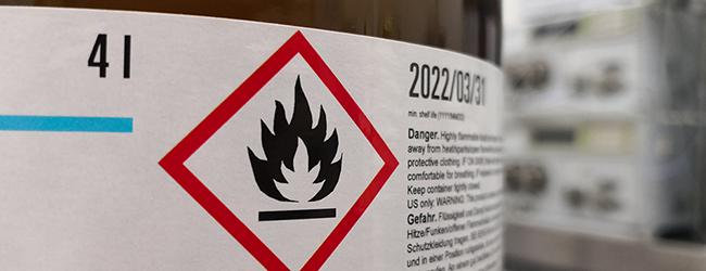 hazard label-email header
